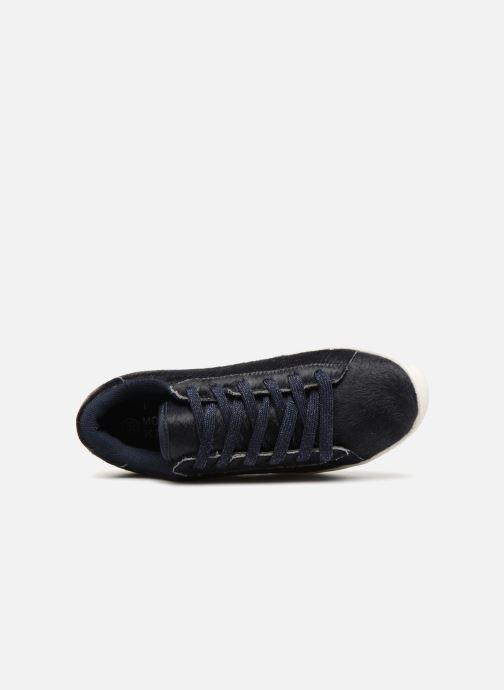 Sneaker Monoprix Kids BASKET POILS BLEU blau ansicht von links