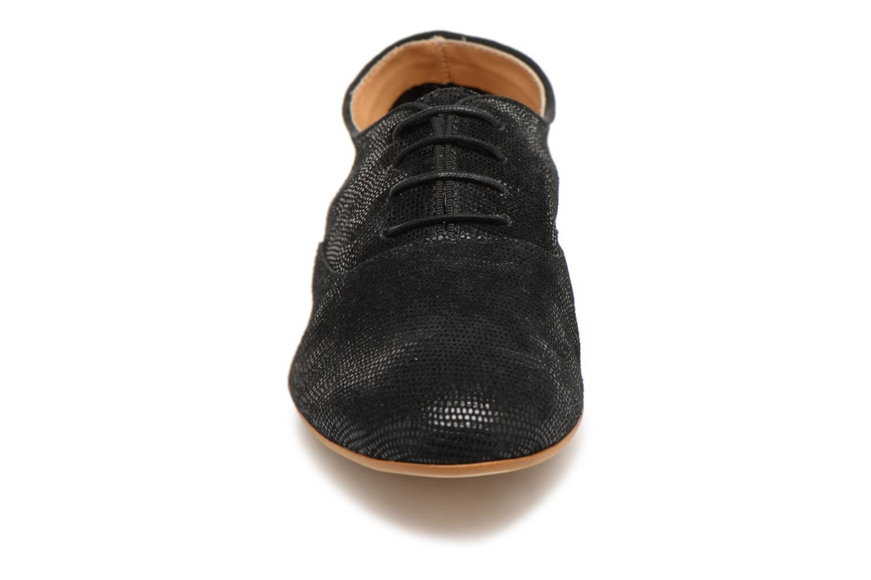 Chaussures à lacets Monoprix Premium Derby en cuir Noir vue portées chaussures