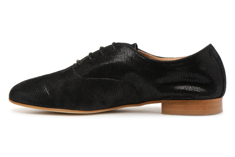 Chaussures à lacets Monoprix Premium Derby en cuir Noir vue face
