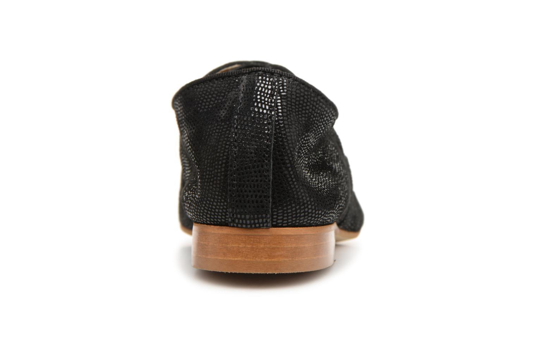 Chaussures à lacets Monoprix Premium Derby en cuir Noir vue droite