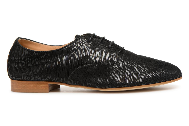 Chaussures à lacets Monoprix Premium Derby en cuir Noir vue derrière