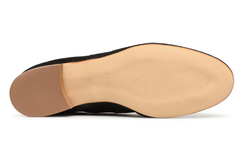Chaussures à lacets Monoprix Premium Derby en cuir Noir vue haut
