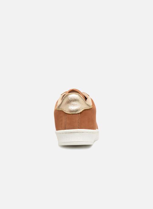 En Premium Cuir Unies Monoprix Baskets Camel 0Pk8nXwO