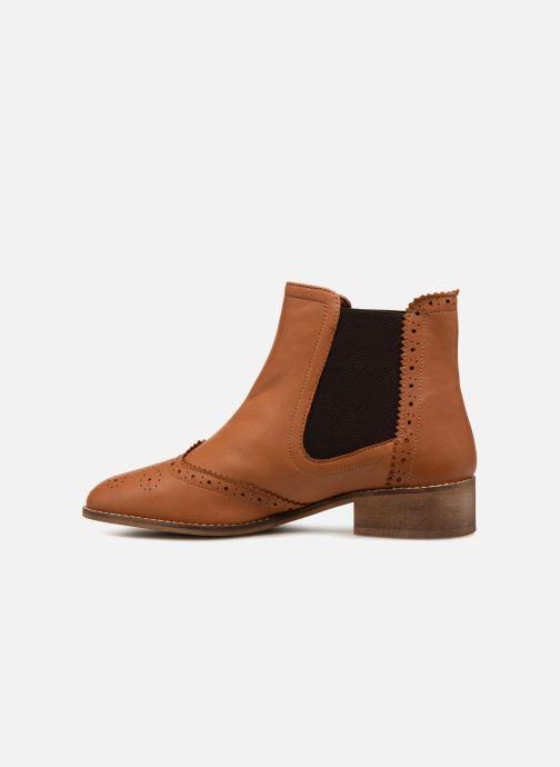 Cuir Bottines Monoprix Bout Boots Fleuri Premium Camel Et c5Aj4R3Lq