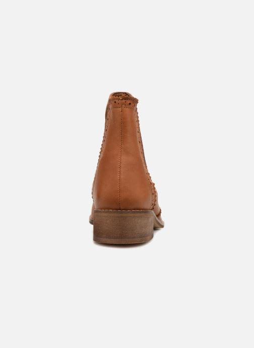 Ankelstøvler Monoprix Premium BOOTS CUIR BOUT FLEURI Brun Se fra højre