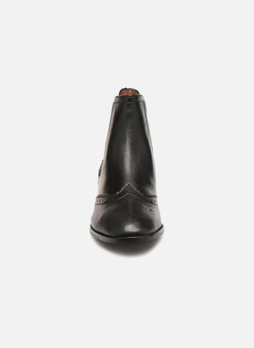 Stiefeletten & Boots Monoprix Premium BOOTS CUIR BOUT FLEURI schwarz schuhe getragen