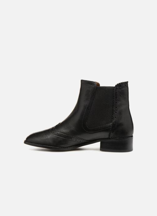 Stiefeletten & Boots Monoprix Premium BOOTS CUIR BOUT FLEURI schwarz ansicht von vorne