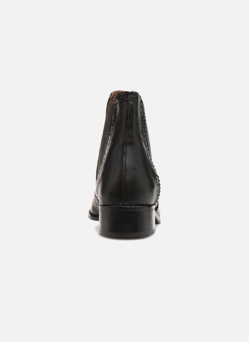 Stiefeletten & Boots Monoprix Premium BOOTS CUIR BOUT FLEURI schwarz ansicht von rechts