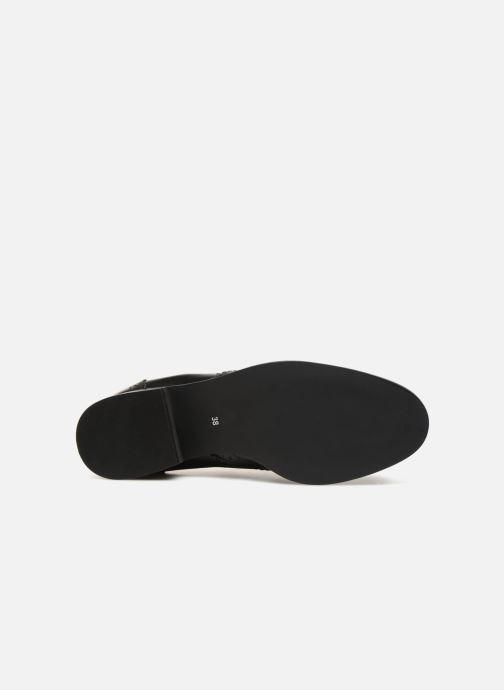 Stiefeletten & Boots Monoprix Premium BOOTS CUIR BOUT FLEURI schwarz ansicht von oben