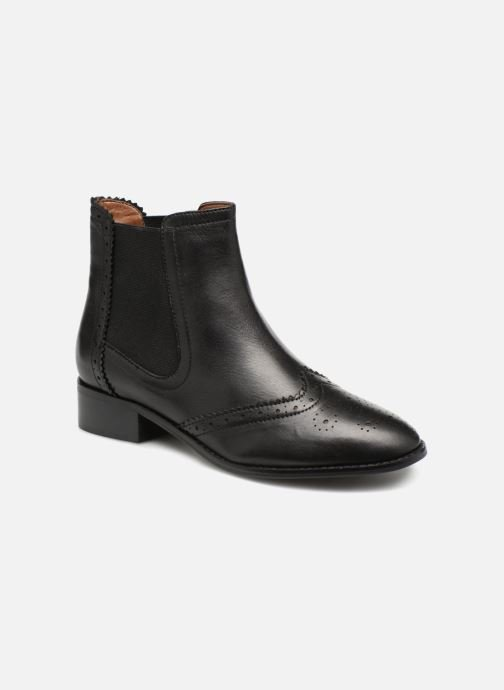 Stiefeletten & Boots Monoprix Premium BOOTS CUIR BOUT FLEURI schwarz detaillierte ansicht/modell