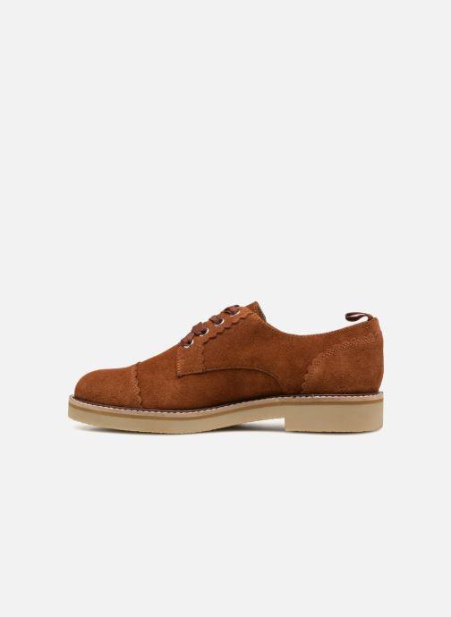 Chaussures à lacets Monoprix Premium DERBY CROUTE DE CUIR Marron vue face
