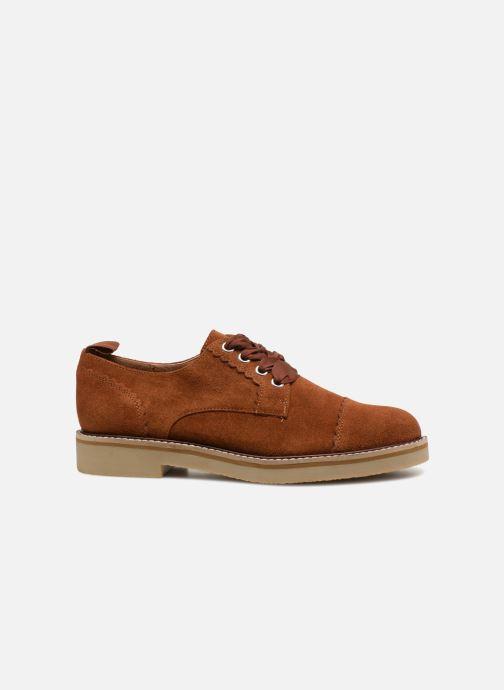 Chaussures à lacets Monoprix Premium DERBY CROUTE DE CUIR Marron vue derrière