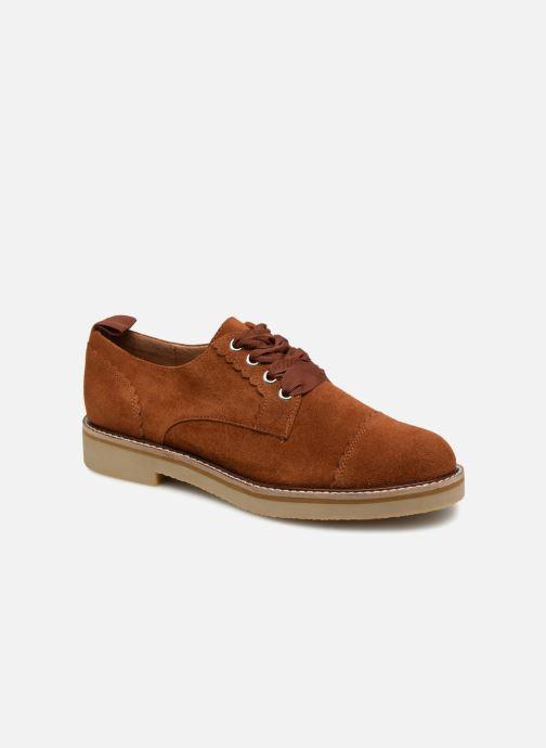 Chaussures à lacets Monoprix Premium DERBY CROUTE DE CUIR Marron vue détail/paire