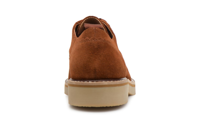 Chaussures à lacets Monoprix Premium DERBY CROUTE DE CUIR Marron vue droite