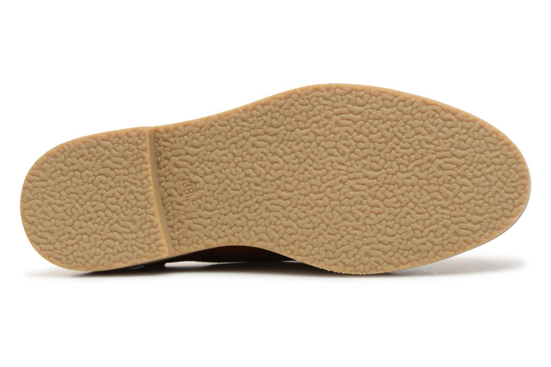 Chaussures à lacets Monoprix Premium DERBY CROUTE DE CUIR Marron vue haut