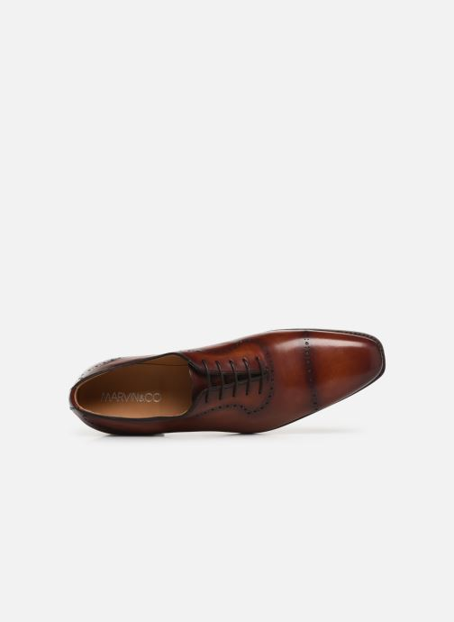 Chaussures à lacets Marvin&Co Luxe Wilnow - Cousu Goodyear Marron vue gauche