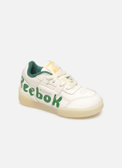 Baskets Reebok x TAO Reebok Classic x The Animals Observatory Workout Plus Baby Blanc vue détail/paire