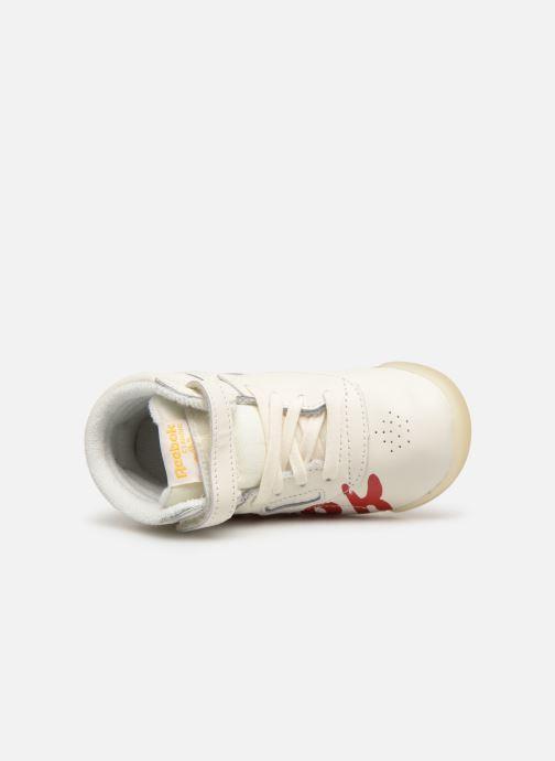 Sneaker Reebok x TAO Reebok Classic x The Animals Observatory Hi Freestyle Baby weiß ansicht von links