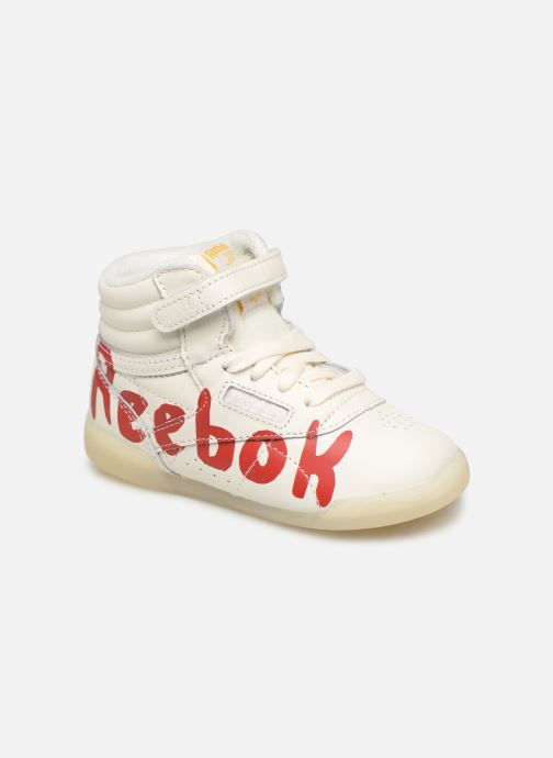 Baskets Reebok x TAO Reebok Classic x The Animals Observatory Hi Freestyle Baby Blanc vue détail/paire