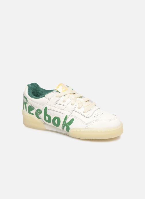 Baskets Reebok x TAO Reebok Classic x The Animals Observatory Workout Plus Kid Blanc vue détail/paire