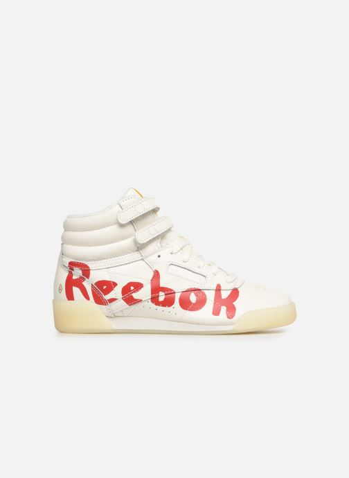 Baskets Reebok x TAO Reebok Classic x The Animals Observatory Freestyle Hi Kid Blanc vue derrière