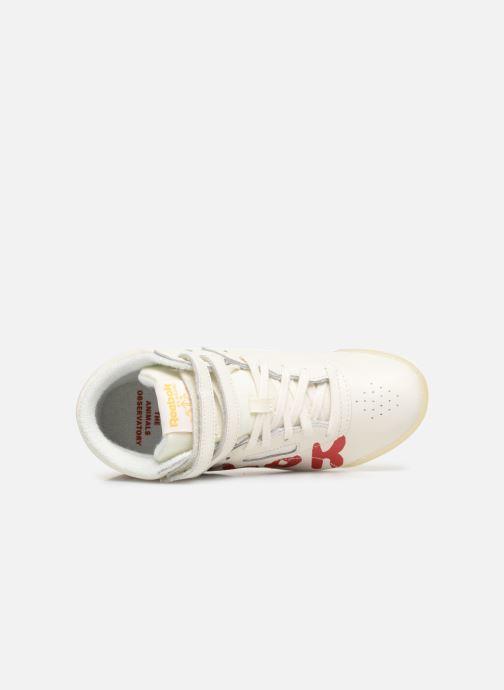 Sneaker Reebok x TAO Reebok Classic x The Animals Observatory Freestyle Hi Kid weiß ansicht von links