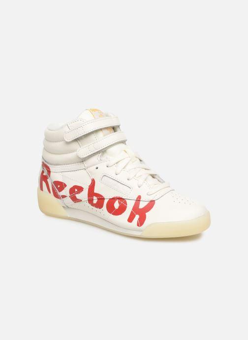 Baskets Reebok x TAO Reebok Classic x The Animals Observatory Freestyle Hi Kid Blanc vue détail/paire