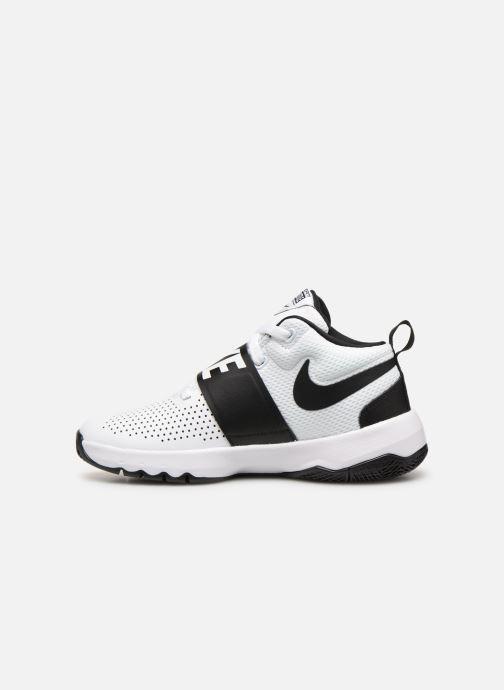 Sneaker Nike Nike Team Hustle D 8 (Gs) weiß ansicht von vorne