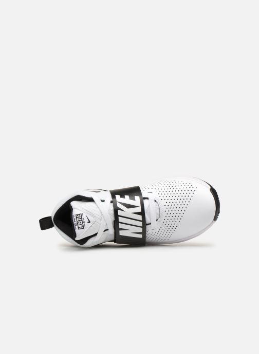 Sneaker Nike Nike Team Hustle D 8 (Gs) weiß ansicht von links