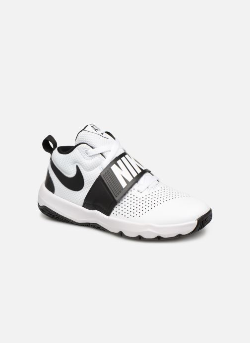 Baskets Nike Nike Team Hustle D 8 (Gs) Blanc vue détail/paire