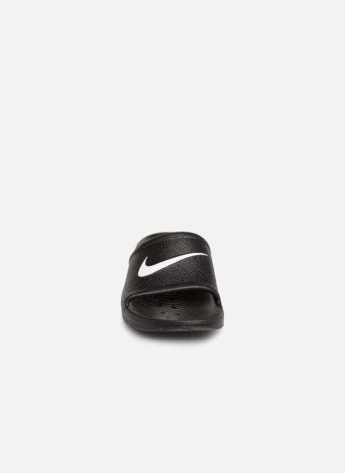 Sandali e scarpe aperte Nike Nike Kawa Shower (GsPs) Nero modello indossato