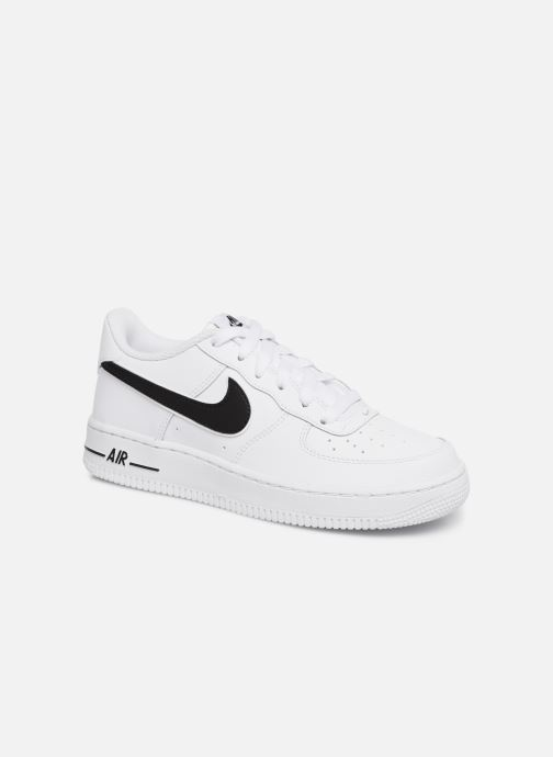 best sneakers 41c16 870bf Baskets Nike Air Force 1-3 (Gs) Blanc vue détail paire