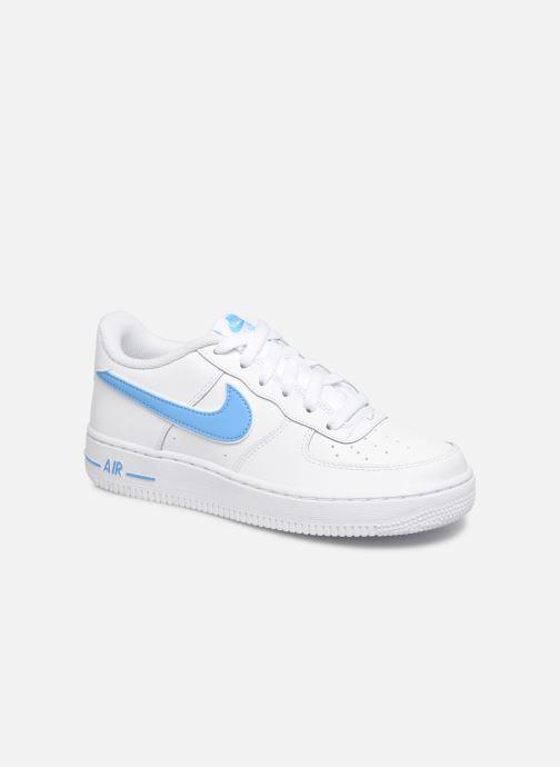 huge discount 52b21 e3e2a Baskets Nike Air Force 1-3 (Gs) Blanc vue détailpaire