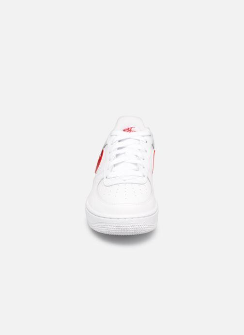 Sneaker Nike Air Force 1-3 (Gs) weiß schuhe getragen