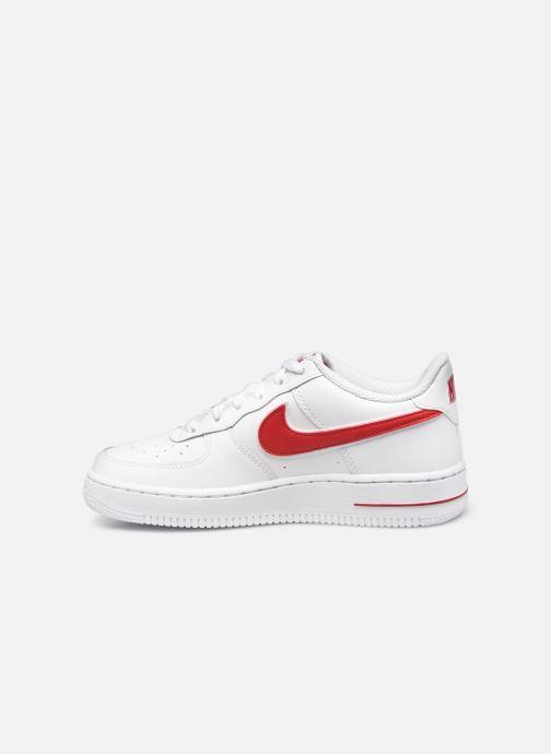 Sneaker Nike Air Force 1-3 (Gs) weiß ansicht von vorne