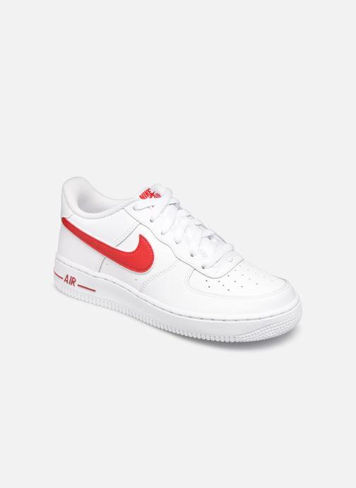 Baskets Nike Air Force 1-3 (Gs) Blanc vue détail/paire