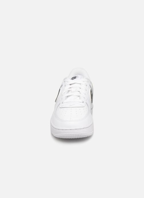 Baskets Nike Force 1-3 (Ps) Blanc vue portées chaussures