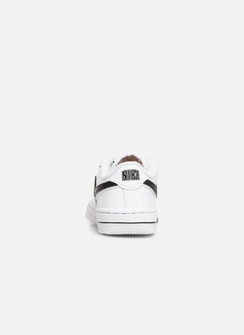 Deportivas Nike Force 1-3 (Td) Blanco vista lateral derecha
