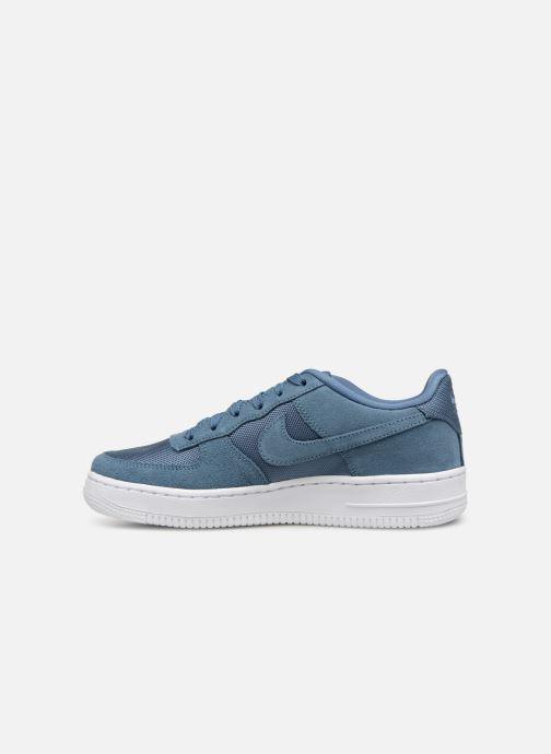 Baskets Nike Air Force 1-1 (Gs) Bleu vue face