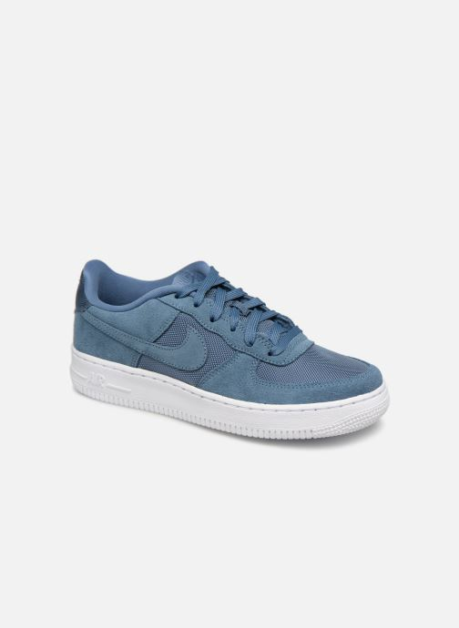 the latest cafe1 96172 Baskets Nike Air Force 1-1 (Gs) Bleu vue détail paire