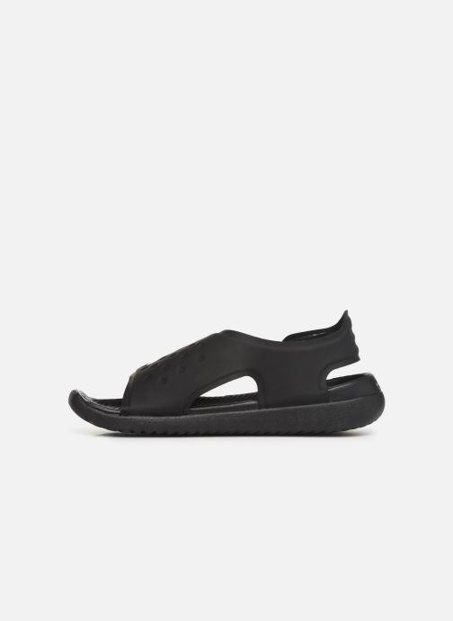 Sandalias Nike Nike Sunray Adjust 5 (Gs/Ps) Negro vista de frente