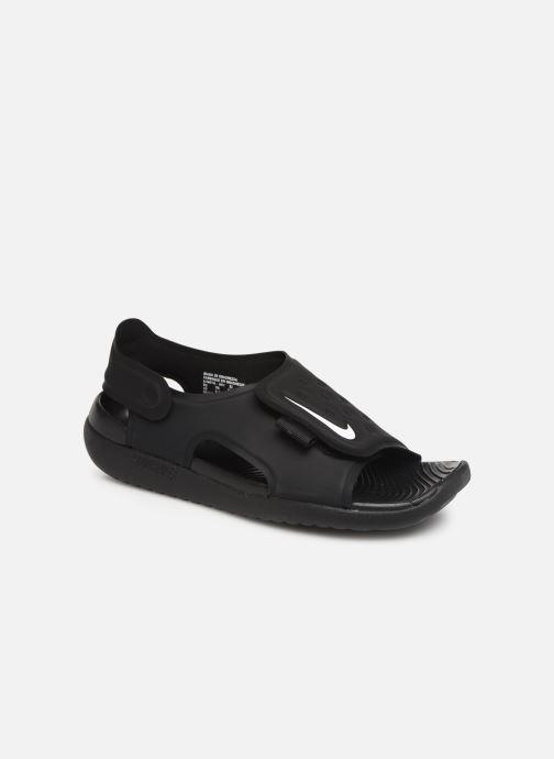 Sandalias Nike Nike Sunray Adjust 5 (Gs/Ps) Negro vista de detalle / par