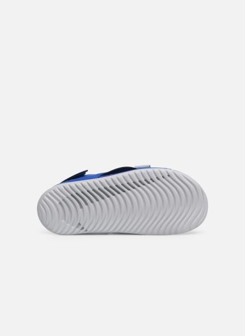 Sandales et nu-pieds Nike Nike Sunray Adjust 5 (Gs/Ps) Bleu vue haut