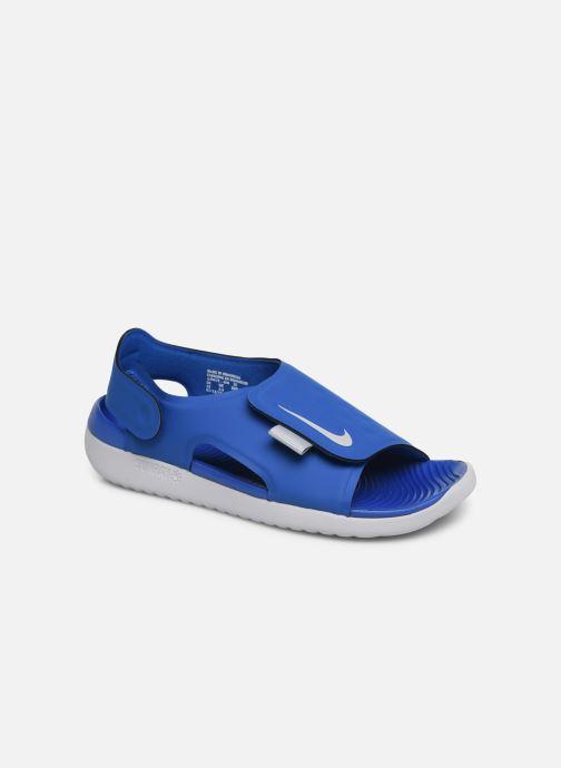 Sandaler Nike Nike Sunray Adjust 5 (Gs/Ps) Blå detaljerad bild på paret