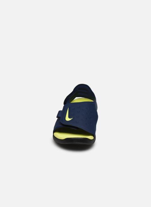 Sandales et nu-pieds Nike Nike Sunray Adjust 5 (Gs/Ps) Bleu vue portées chaussures