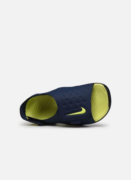 Sandales et nu-pieds Nike Nike Sunray Adjust 5 (Gs/Ps) Bleu vue gauche