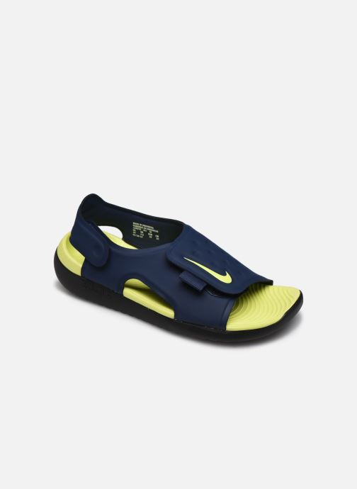 Sandales et nu-pieds Nike Nike Sunray Adjust 5 (Gs/Ps) Bleu vue détail/paire