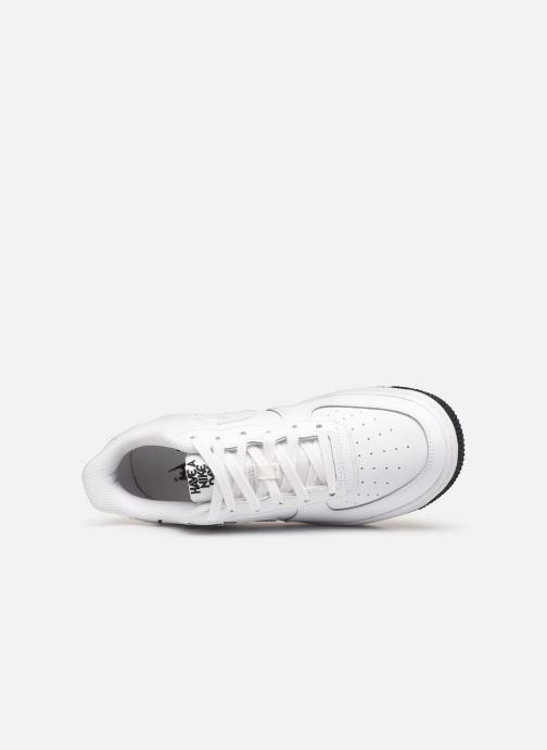 Sneaker Nike Air Force 1 Lv8 2 (Gs) weiß ansicht von links