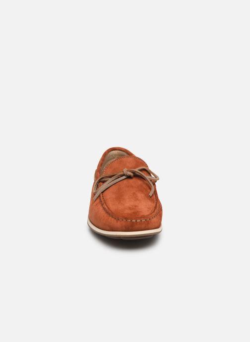 Mocassins Fluchos Evoke F0425 Orange vue portées chaussures