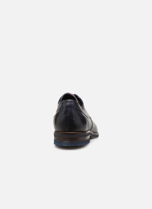 Zapatos con cordones Fluchos Olimpo F0137 Azul vista lateral derecha